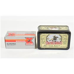 500 Rounds Winchester 22 LR in Winchester Tin