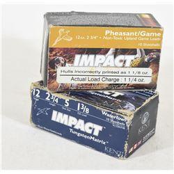 20 Rounds Impact 12 Ga. X 2 3/4 #5 Tungsten Matrix