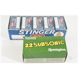 1000 Rounds 22 LR CCI Stinger & Remington Subsonic