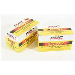 900 Rounds PMC Target 22 Cal. LR 40 Gr. Solid Lead