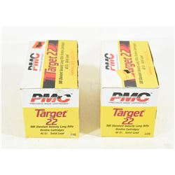 1000 Rounds PMC Targert 22 LR 40gr Lead Ammo