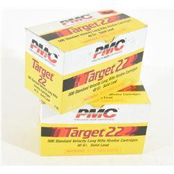 1000 Rounds PMC Targert 22 LR 40gr Lead Ammo