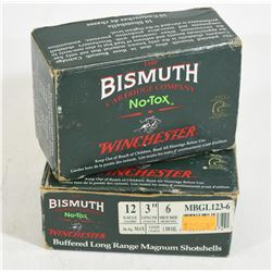 "18 Rounds Winchester Bismuth 12 Ga. X 3 "" #6 Shot"