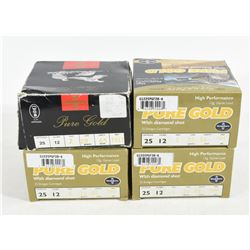 "87 Rounds Pure Gold 12 Ga. X 2 1/2"" Ammunition"
