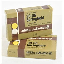 40 Rounds Sellier & Bellot 30-06 Win. 180 Gr. Ammo