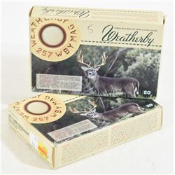 25 Rounds Weatherby 257 WBY Magnum 100 Gr. Ammo