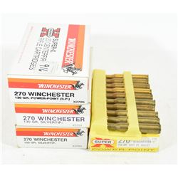 74 Rounds Mixed 270 Win. Ammunition
