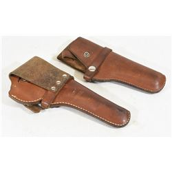 2 Hunter Leather Holsters