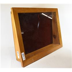 Wooden Display Cabinet With Glass Top