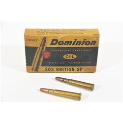 20 Rounds Dominion 303 British