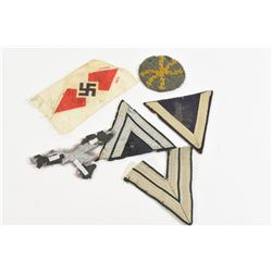 6 Mixed Nazi Cloth Patches