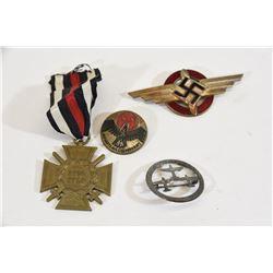 4 Badges Ea 2 Rally Hindenburg Cross