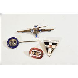 4 Nazi Enamel Pins