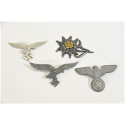 4 Nazi Cap Insignias