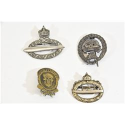 4 WWI & Nazi Badges