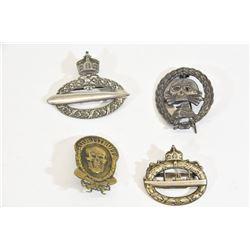 4 WWI & Nazi Badges