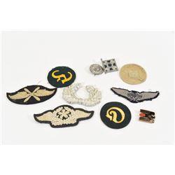 6 Nazi Army & Luftwaffe Cloth + 4 Badges + 2 Stams