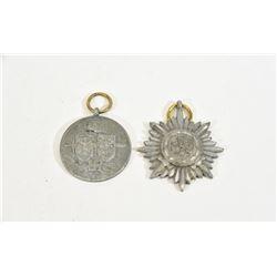 2 Metal Badges