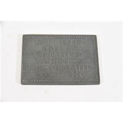 Plaque Austru Hung 1916 Dbl Sided