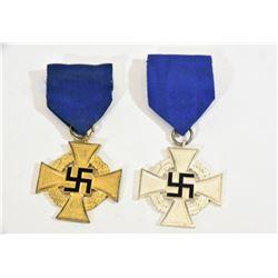 2 Nazi Service Medals