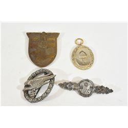 4 Nazi Metal Pins