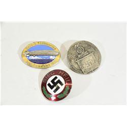 3 Nazi Enamel Badges