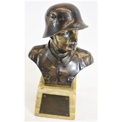 German WWII Desk Statue Shooting Award