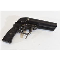German WWII Nazi Marked Double Barrel Flare Pistol