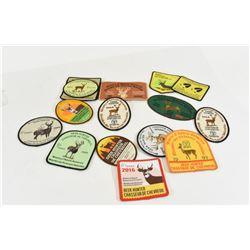 16 Various Deer Hunting Badges 1993-2017