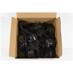 Box Lot Rifle Scope Lens Caps