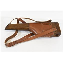 Mauser C96 Buttstock/Holster with New Leather