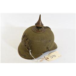 WWI Bavarian Brass Fittings Felt Helmet