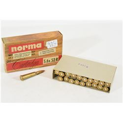 20 Rounds Norma 5.6 x 52 R Ammunition