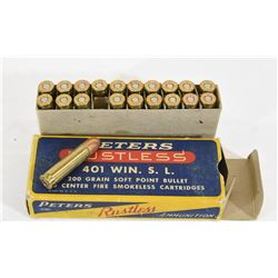 20 Rnds. Peters 401 Win SL Ammunition
