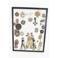 22 German Medals in Frame