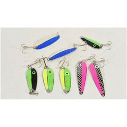 Eight Spoon Lures