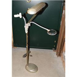 OttLite Pedestal Work Light with Magnifier & Clamp