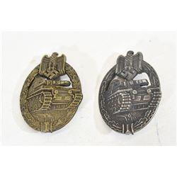 2 Tank Badges