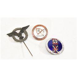 3 Nazi Lapel Pins