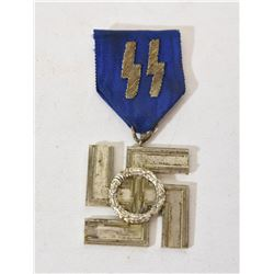 SS 12 Year Service Medal with Ribbon