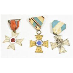 3 WWI German Vet Crosses