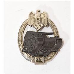 25 Tank Assault Badge