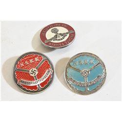 3 NSKK Pin Badges