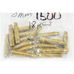 18 Pieces of 8mm Mauser Brass