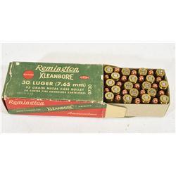 Vintage Collector 30 Luger Metallic Cartridges