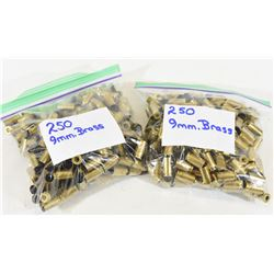 500 Pieces 9mm Brass