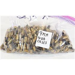 400 Pieces 9mm Brass