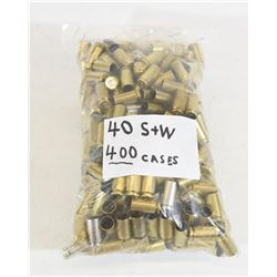 400 Pieces 40 S&W Brass