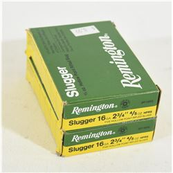 "Remington 16ga 2 3/4"" Hollow Point Rifled Slugs"