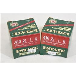 """Estate 410ga 2.5"""" #6 Shotshells"""